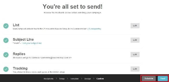 Cómo programar un email en Mailchimp