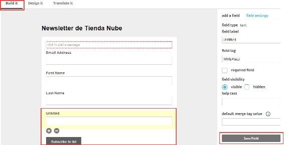Cómo crear un formulario en Mailchimp