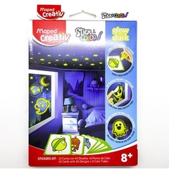 Set Stick & Color Glow In The Dark - Creativ Maped