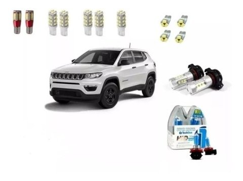 Kit Led Interno + Farois + Drl Jeep Compass