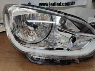 Farois Led Volkswagen Up Customizados Com Barra Drl + Seta