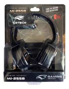 Headset C3 Tech Gamer MI-2558, Drivers 40mm, Preto - MI-2558RB na internet