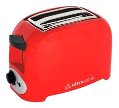 Tostadora Ultracomb To-4005 Descongela  750w Roja Pc
