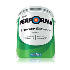 Plavicon Pintura Latex Interior Exterior Blanco Performa 20l