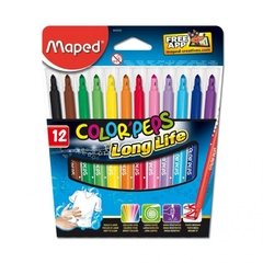 Marcador Maped color peps x 12 largos