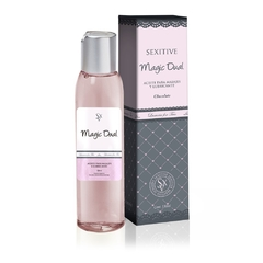 Aceite y lubricante sabor chocolate Magic Dual Sexitive