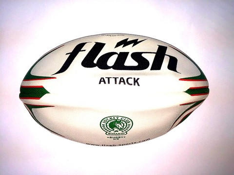 Pelota de rugby Nº4 FLASH Attack Jockey Club Rosario