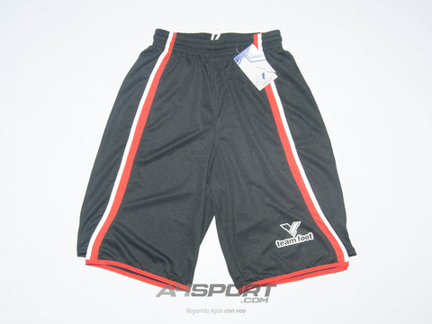 Short Team Foot Memphis Negro/rojo