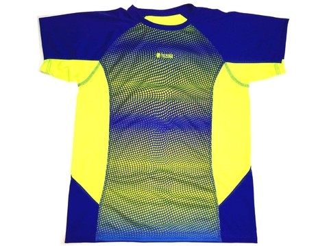 Remera Run Smart YAZUKA masculina azul/amarillo