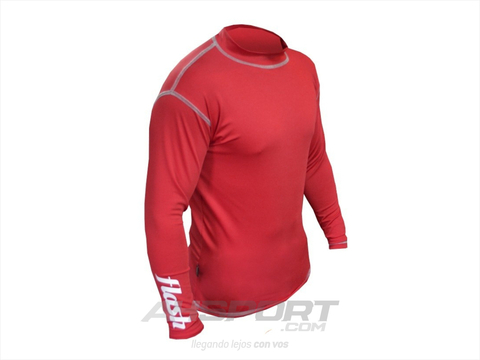 Remera térmica Flash manga larga roja