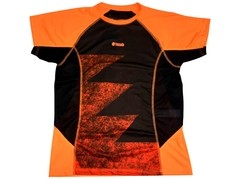 Remera Run Smart YAZUKA masculina naranja/negro