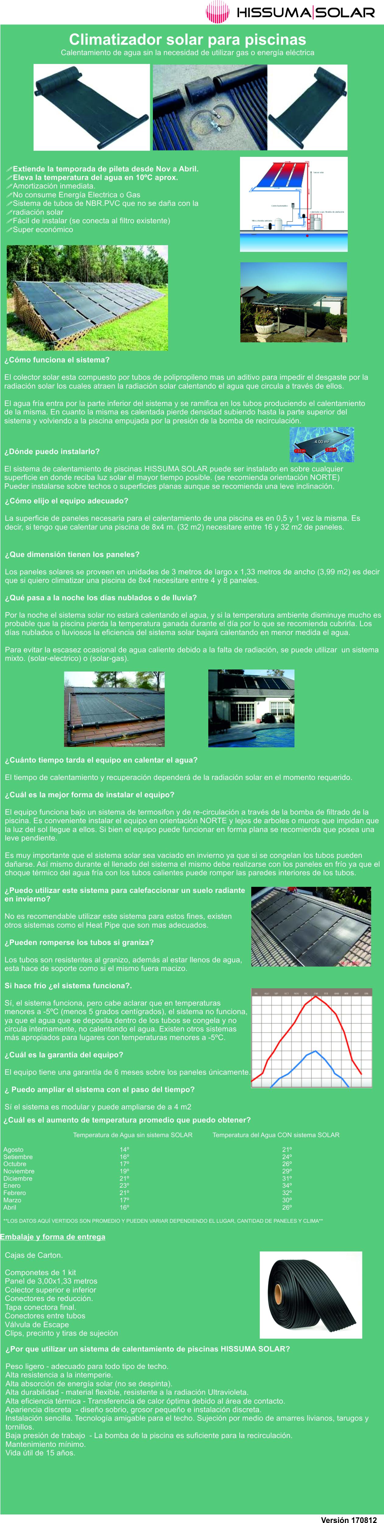 Sistema de calefacci n solar para piscinas precio por for Sistema ultravioleta para piscinas