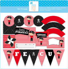 Kit Imprimible - Decoración Piratas