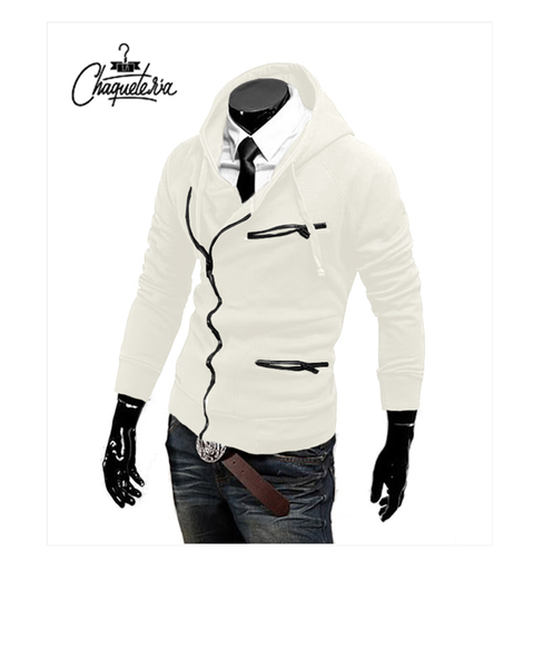 Hoodie SLIM FIT; Ref: Yaje White - Marca LaChaqueteria