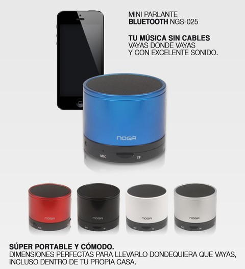 Mini Parlante Bluetooth NogaNet