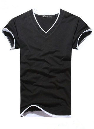 Modern Solid Youth T-Shirt - V Neck - in 5 Colors