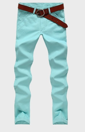 Casual Slim Fit Straight Pants Modern - Green