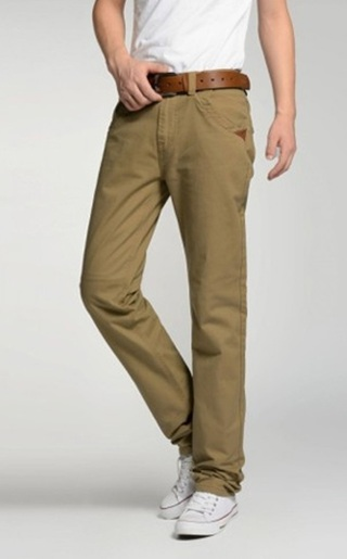 Classic Fashion Straight Pants - Khaki
