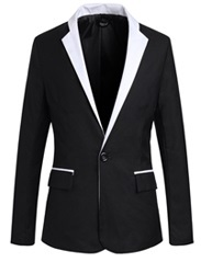 Blazer Elegante Fashion - Estilo Smoking - en Negro y Blanco