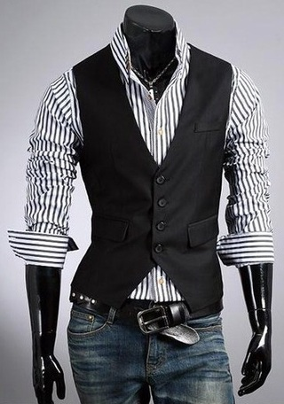 Classic Fashion Vest - Black