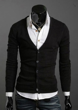 Saco Social Slim Fit Fashion - Negro