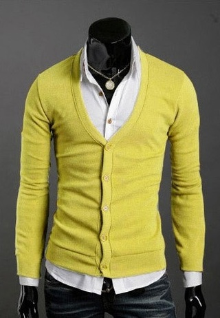 Saco Social Slim Fit Fashion - Amarillo