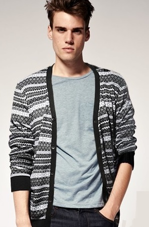 Sweater / Cardigan Clasico Fashion - Negro