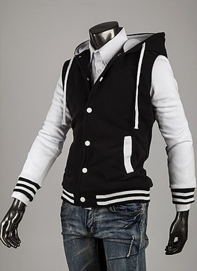 Modern Sport Coat with Hood - White