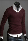 Sweater Casual Slim Fit Manga Larga Clásico - en 6 Colores