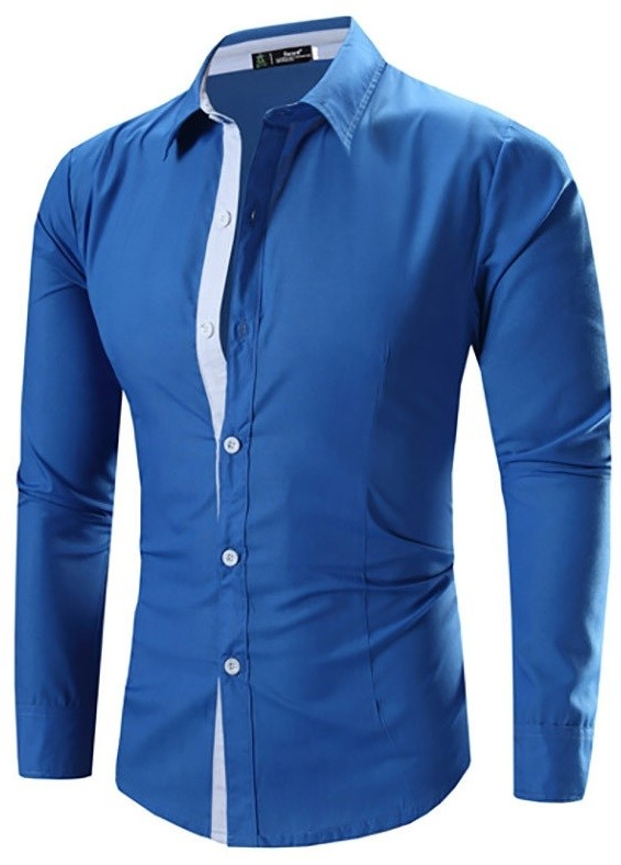 Camisa Casual Moderna Lisa - Detalles en Contraste - en 4 Colores