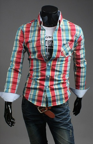 Shirt Casual Slim Fit Checked - Lumberjack Style - in 7 Colors