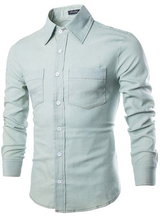 Modern Casual Shirt - Jeans Fashion Style - Blue