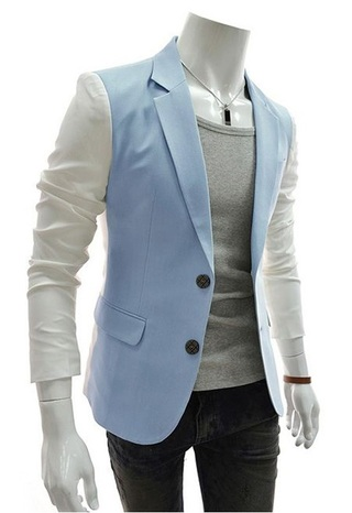 Casual Blazer Style Spring - in Two Colors - in Blue and Gray