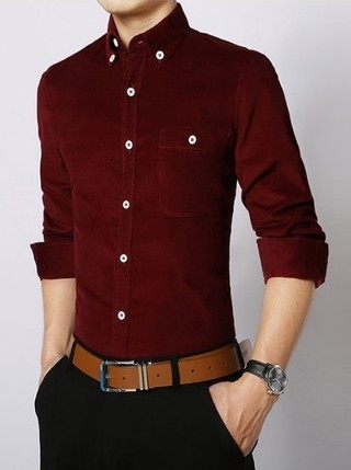 Youth Fashion Casual Shirt - Solid Color - in 6 Colors