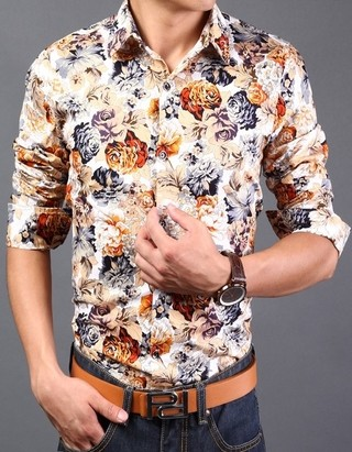 Modern Slim Fit Shirt Spring - Floral - in 11 color combinations