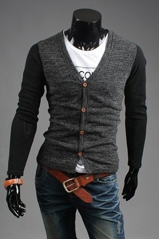 Vintage Casual Cardigan in two Colors - Gray