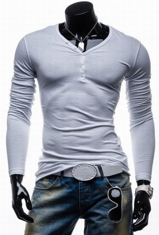 Fashion Slim Fit Shirt with Buttons Chest - in 5 Colors