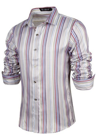 Camisa Casual Fashion Juvenil - Rayado Vertical - Multicolor