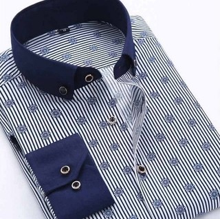 Camisa Casual Fashion Premium Estampado Moderno - Sailor - Azul