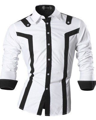 Modern Shirt in Two Colors - Spring / Fall - Black and White