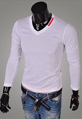 Long Sleeve T-Shirt Slim Fit - Neck Detail - in 4 Colors