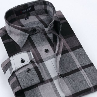 Checkered Shirt Plus Size Modern - Style Woodman - Gray / Black