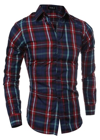 Camisa a Cuadros Fashion - New Classic - en Rojo y Marron