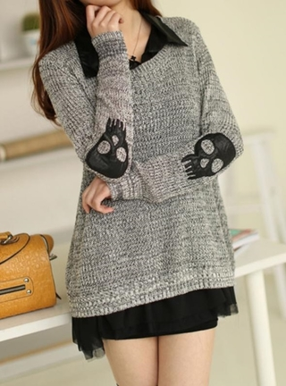 Sweater Femenino Tejido Fashion - Rock and Roll - Gris