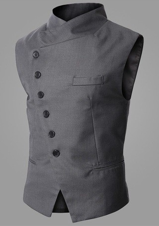 Modern Elegant Fashion Vest - Gray