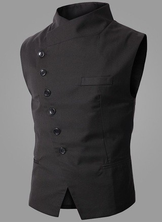 Modern Elegant Fashion Vest - Black