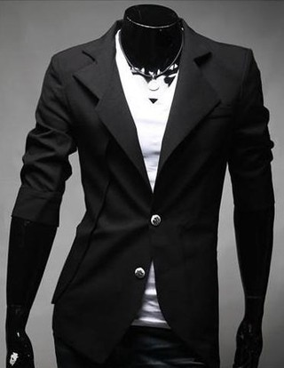 Modern Slim Fit Blazer - Fashion with Two Colors - in Black and White