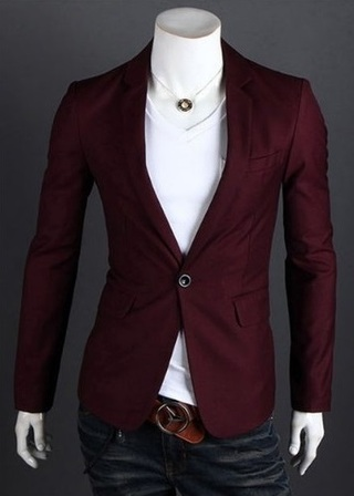 Fashion Blazer One Button Modern - Ideal for Night - in 5 Colors