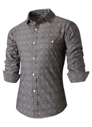 Shirt Casual Elegant - with Modern Design - Gray