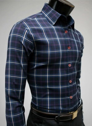 Checked Shirt Style Social English - Blue